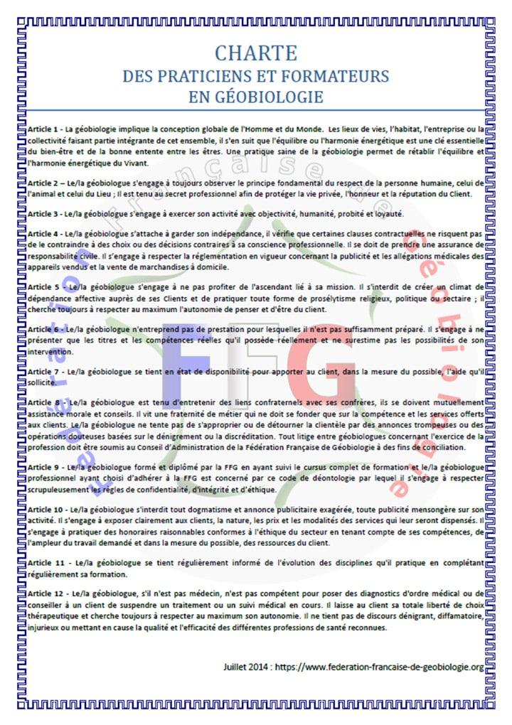 charte éthique FFG