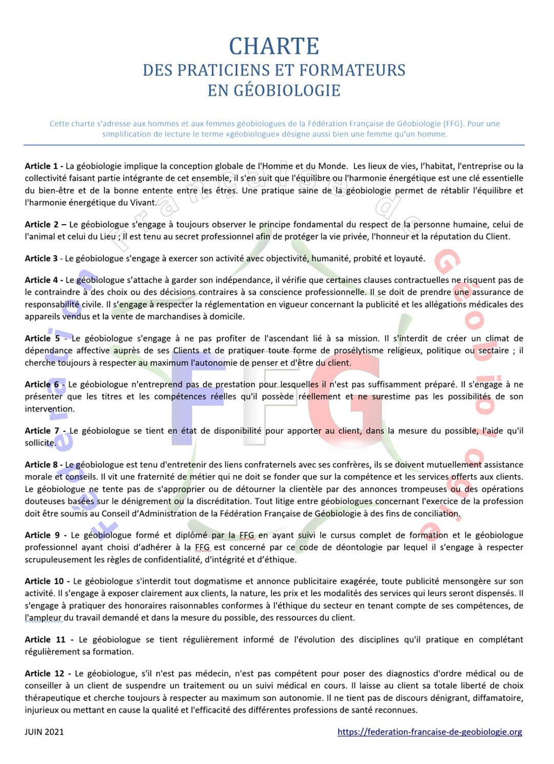 charte éthique FFG - juin 2021